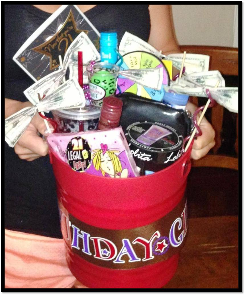 21st Birthday Gift Bucket